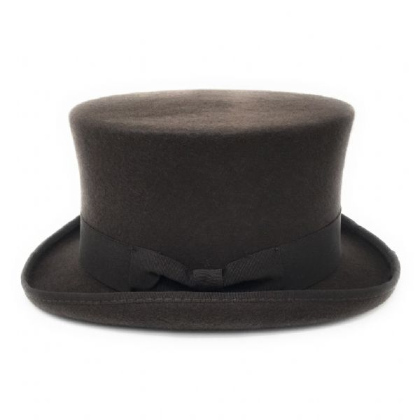 Brown Wool Felt Top Hat